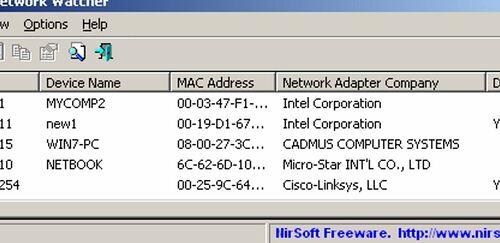 Windows Network device scanner