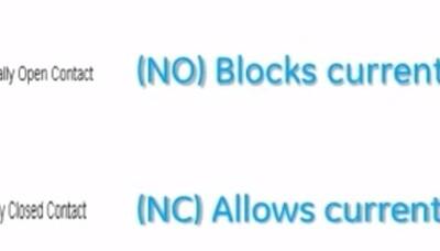 Control Logic Diagram - Contact symbols