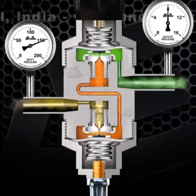 two stage pressure regulator valve