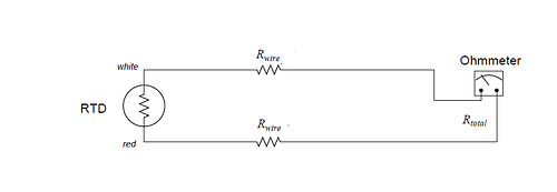 two-wire RTD connection