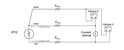three wire RTD circuit